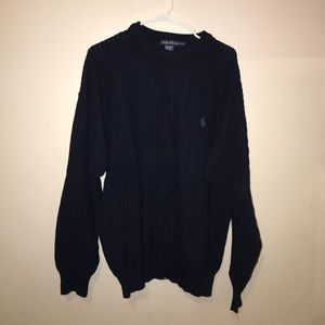 Navy blue nautica cable knit sweater
